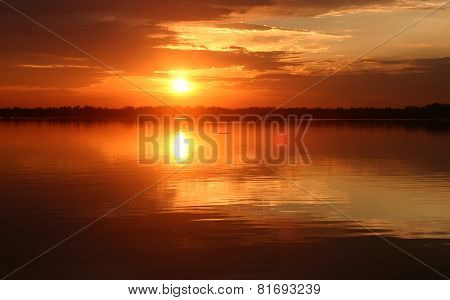 Lake Woodruff At Sunrise