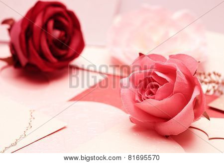 the rose on greeting card pattern of heart for valentine and lovely