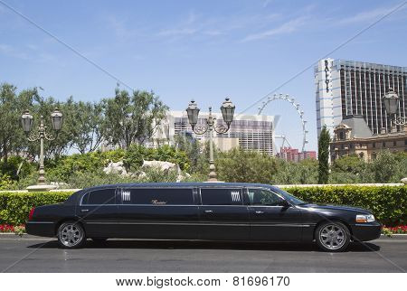 Stretch limousine near Las Vegas Strip