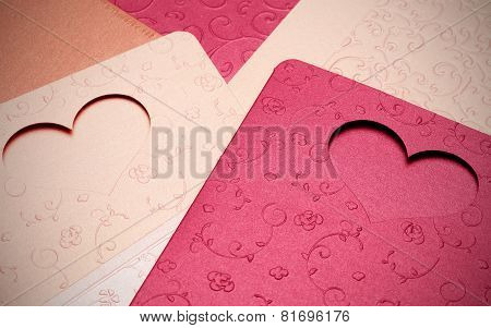 The greeting card pattern of heart for valentine and lovely
