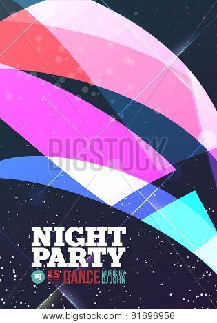 Night Party Vector Background
