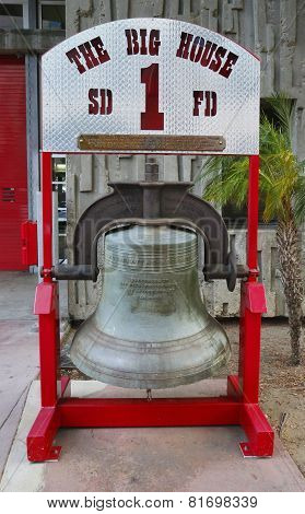 Bell cast in San Francisco in 1885 and presented to San Diego Fire Department Engine Company 1