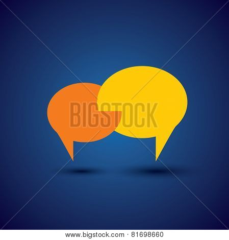 Chat Or Talk Symbol Or Speech Bubble - Concept Vector