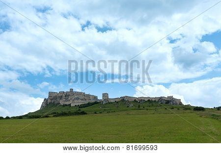The Ruins Of Spis Castle (or Spissky Hrad). Slovakia.