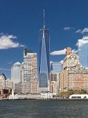 picture of freedom tower  - The New York City skyline at afternoon with the Freedom tower 2014 - JPG