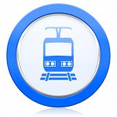 stock photo of railroad-sign  - train icon public transport sign  - JPG