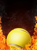 picture of olympiad  - Tennis Ball on Fire - JPG