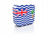 picture of indian flag  - Square icon with flag of british indian ocean territory with reflection - JPG