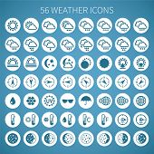 stock photo of barometer  - Vector weather icon set for widgets and sites - JPG