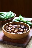 picture of bean-pod  - Roasted broad beans  - JPG