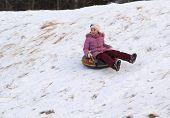 image of snow-slide  - winter - JPG