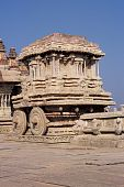 stock photo of swami  - Stone Chariot of Vittala Swamy Temple at Hampi - JPG