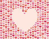 stock photo of rebs  - Heart background for Saint Valentines Day - JPG