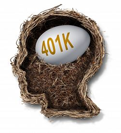 foto of human egg  - 401k plan financial concept as a nest egg pension fund investment in a bird nest shaped as a human head as a wealth planning finance and budgeting symbol - JPG