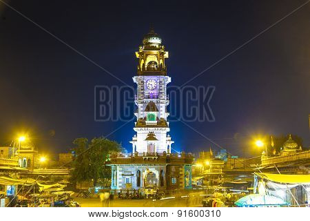 Famous Victorian Clock Tower In Jodhpur