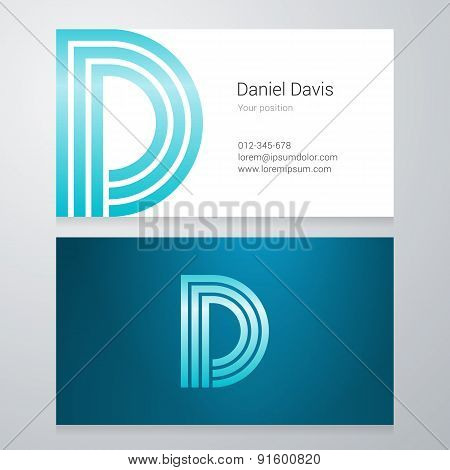 Letter D Business Card Template
