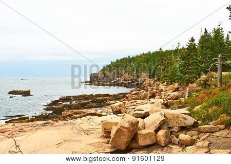 Sea view at Acadia National Park, Maine, USA.