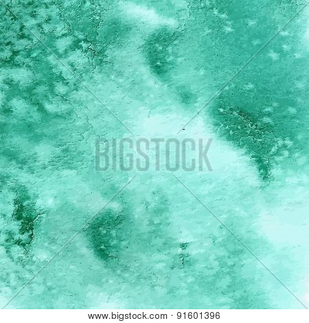 Turquoise green watercolor texture