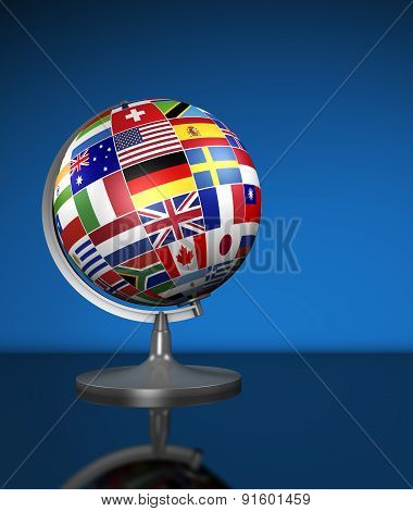 International Business World Flags School Globe