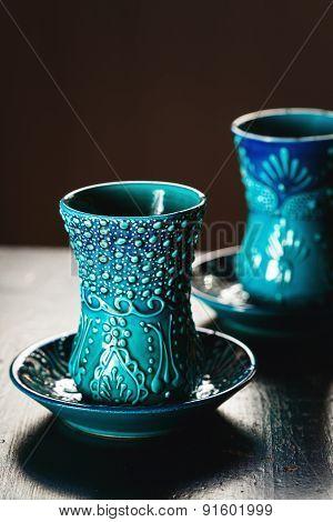 Traditional Turkish Glasses For Tea