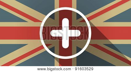 Uk Flag Icon With A Sum Sign