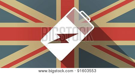 Uk Flag Icon With A Battery