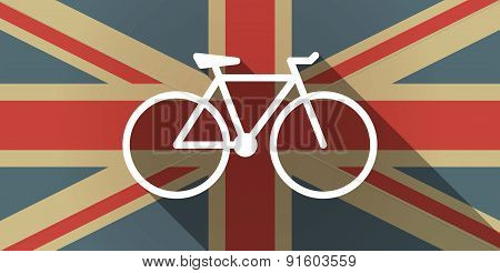 Uk Flag Icon With A Bicycle