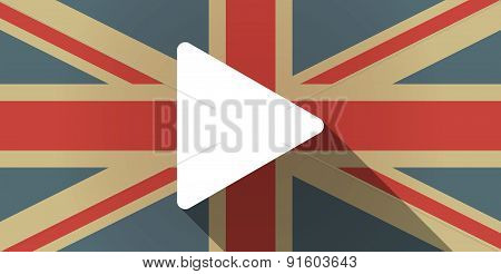 Uk Flag Icon With A Play Sign