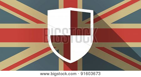 Uk Flag Icon With A Shield