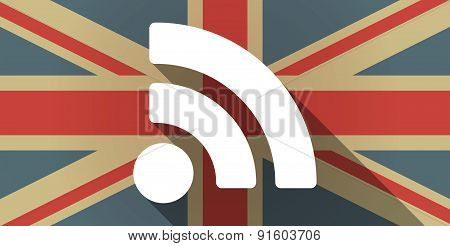 Uk Flag Icon With A Rss Feed Sign