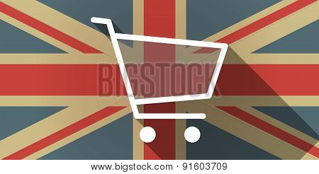 Uk Flag Icon With A Shopping Cart