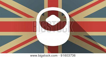 Uk Flag Icon With A Sushi