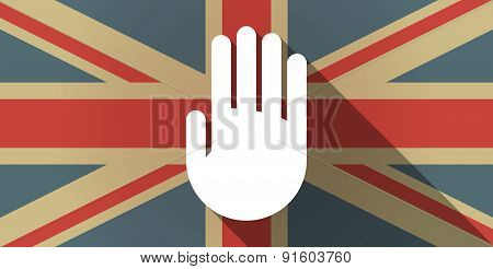 Uk Flag Icon With A Hand