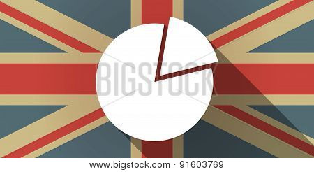 Uk Flag Icon With A Pie Chart