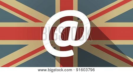 Uk Flag Icon With An At Sign