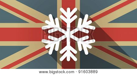 Uk Flag Icon With A Snow Flake
