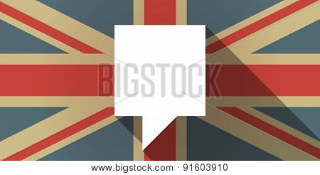 Uk Flag Icon With A Tooltip