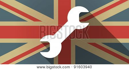 Uk Flag Icon With A Wrench