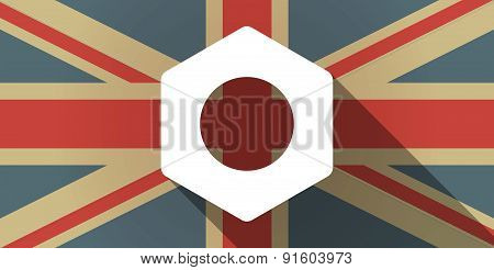 Uk Flag Icon With A Nut