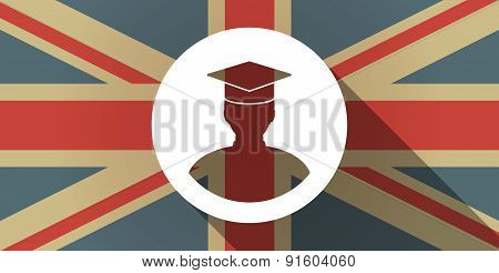 Uk Flag Icon With A Student