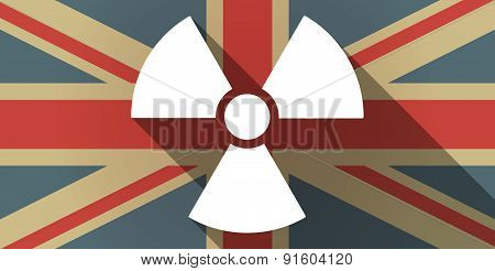 Uk Flag Icon With A Radio Activity Sign