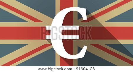 Uk Flag Icon With An Euro Sign