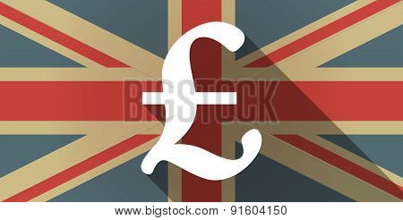 Uk Flag Icon With A Pound Sign