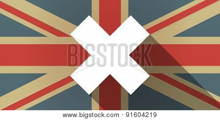 Uk Flag Icon With An X Sign