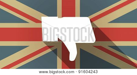 Uk Flag Icon With A Thumb Hand