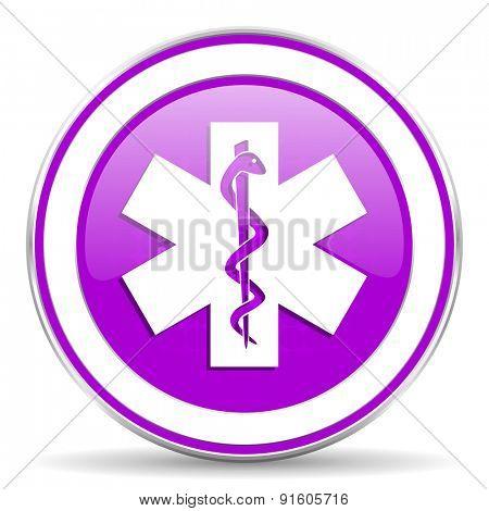 emergency violet icon hospital sign