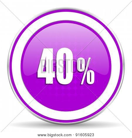40 percent violet icon sale sign
