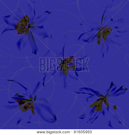 Narcissus Seamless Background