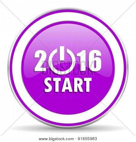 new year 2016 violet icon new years symbol