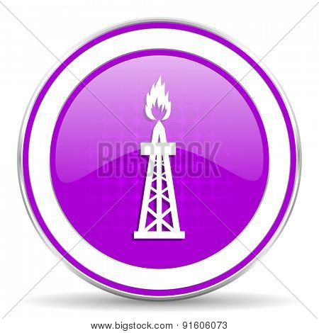 gas violet icon oil sign